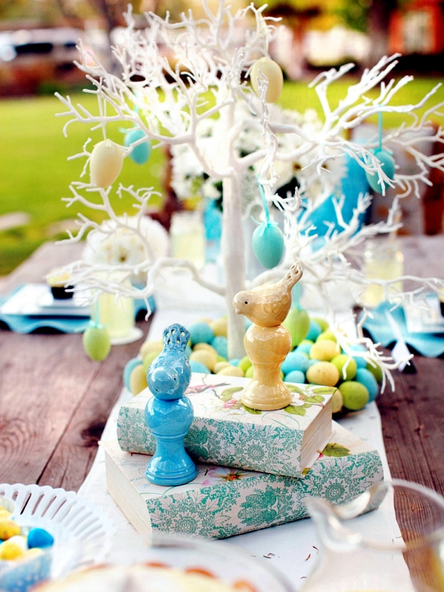 Ask the festive table decoration Easter itself - 22 Ideas