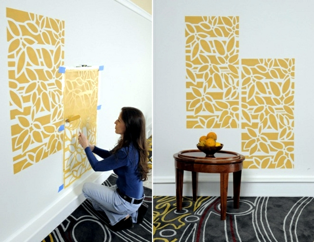 Paint the walls - 21 creative ideas wall templates, including instructions