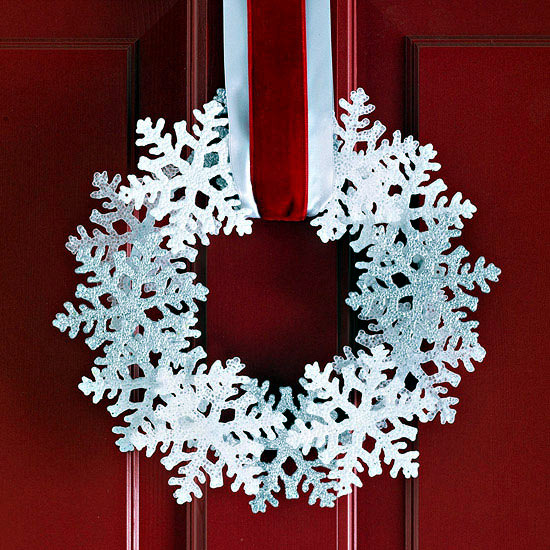 Winter and Christmas decoration with snowflakes DIY | Interior ...