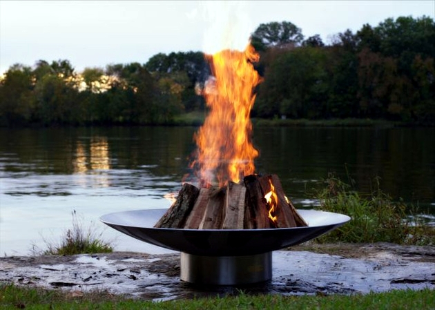 Elegant Bella Vita Fire Bowl Stainless Steel By Rick Wittrig