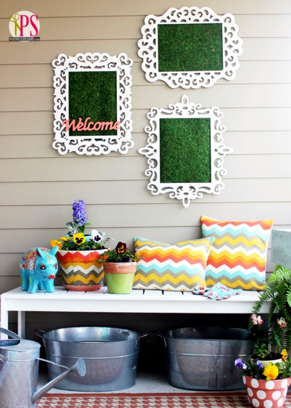 The pots adorn - craft ideas with chalkboard paint and trim