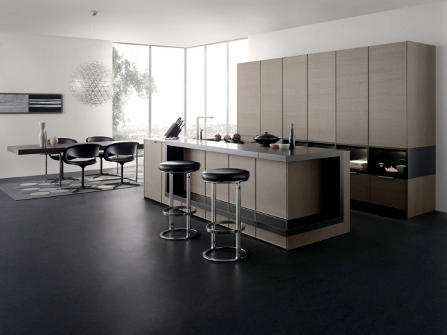 Design of modern kitchen with beautiful light timeless