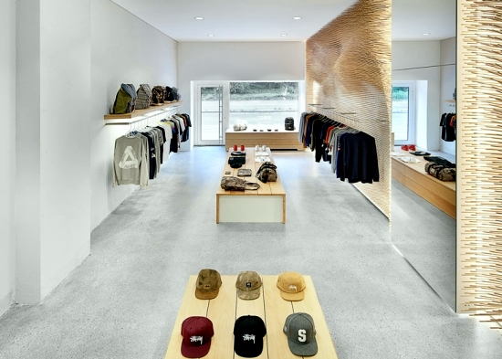 Shop Happy With A Minimalist Design The Republic Of Korea In Contrast To The Decorative Wall