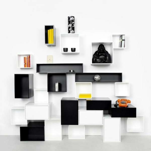 trendy ideas interior design modular shelving for the construction of the self interior. Black Bedroom Furniture Sets. Home Design Ideas