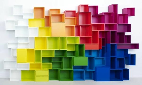 Trendy ideas interior design - Modular shelving for the construction of the self