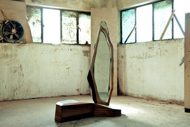 Design mirror line inspired by nature by karen chekerdjian for Nature inspired interior decorating