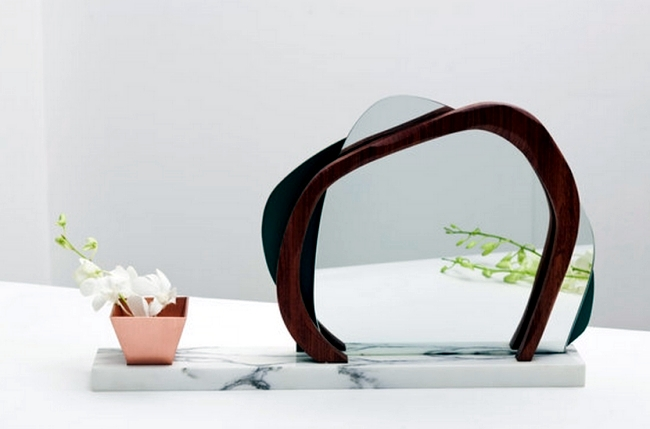 Design mirror line inspired by nature by Karen Chekerdjian Ikebana
