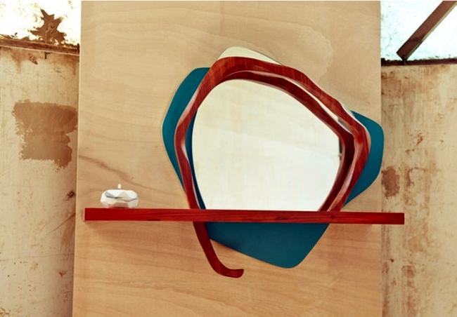 Design mirror line inspired by nature by Karen Chekerdjian Ikebana