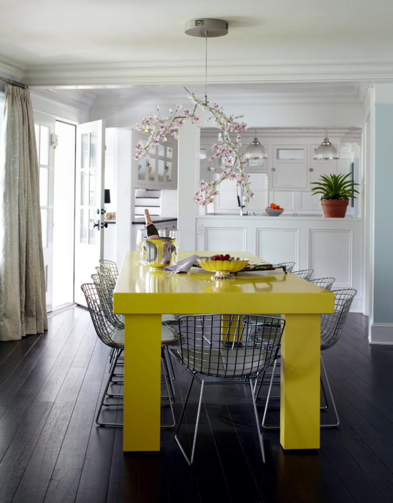 Neon Yellow Dining Table Interior