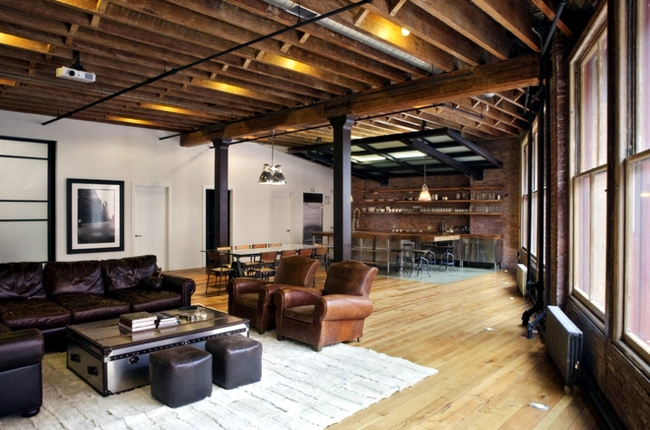 Installation Of Industrial Life Style Ideas For A Loft