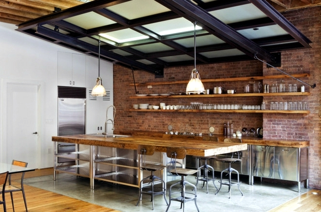 Installation of industrial life style - ideas for a loft style environment