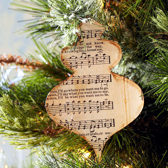 Playing for fun Christmas decor from inexpensive materials