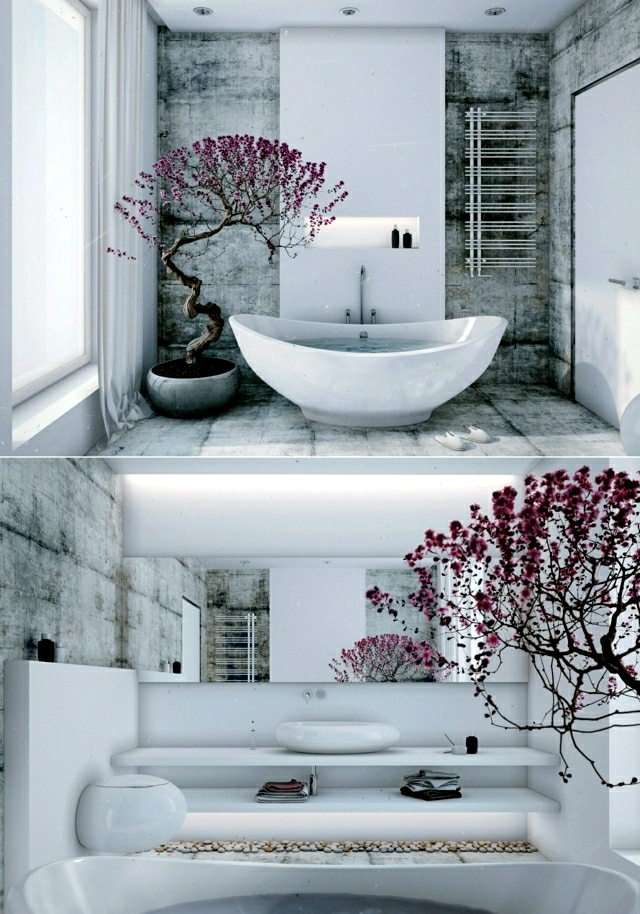 Creating a Zen atmosphere – Interior Design Ideas for Japanese style on modern bathroom interior design, powder room interior design, asian bathroom design, bathroom with black accents,