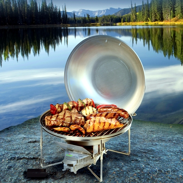 Stainless steel grill - barbecue pure pleasure for the whole family