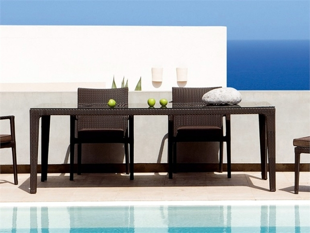 21 tables Garden Designs - Overview of the different materials
