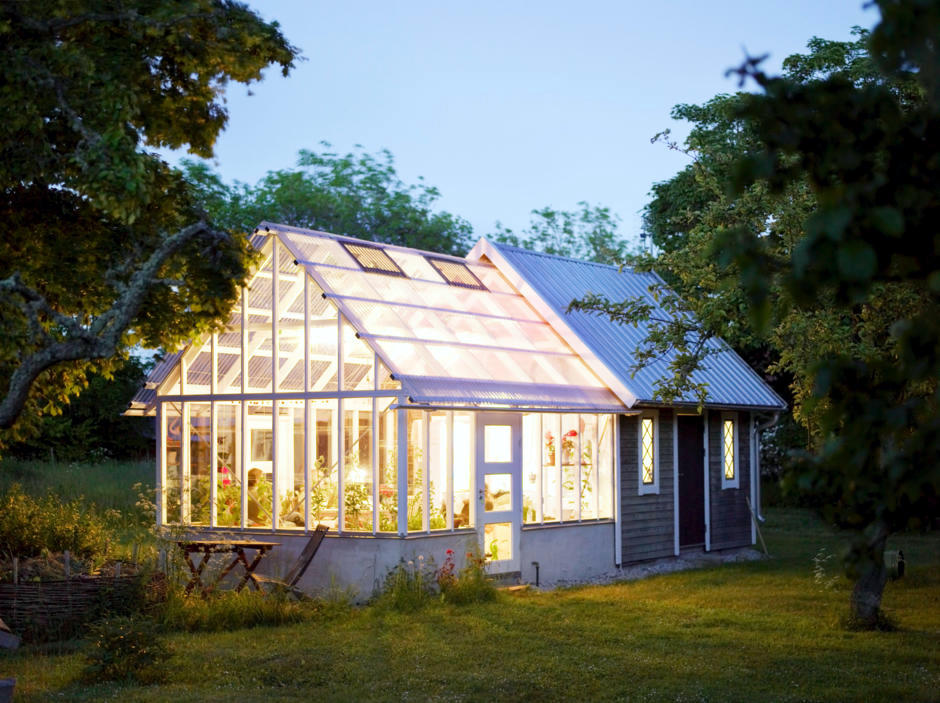 Conservatory with a glass roof | Interior Design Ideas - Ofdesign