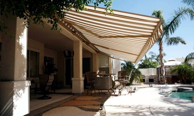 Balcony and terrace patio umbrella - a maritime climax