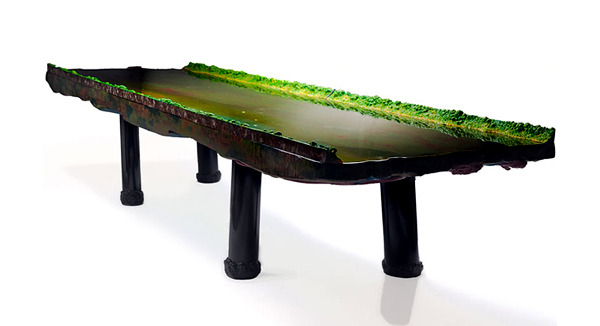 Collection of tables Gaetano Pesce Limited Clever optical water