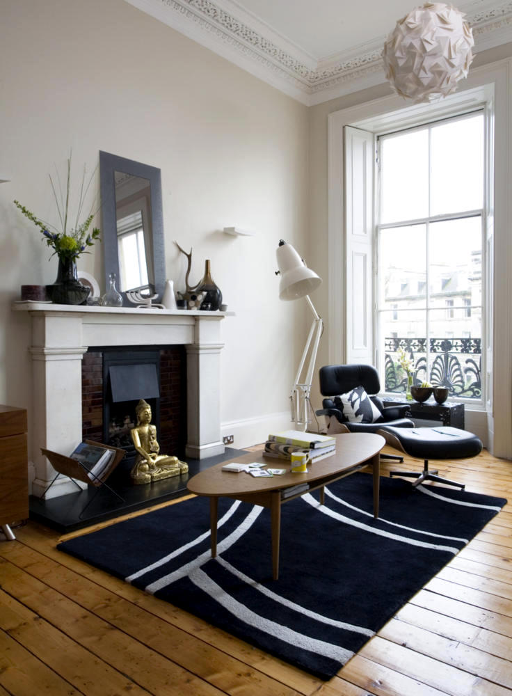 Room with fireplace lounge chair eames interior design ideas ofdesign - Lovely images of ames lounge chair for living room decoration design ideas ...