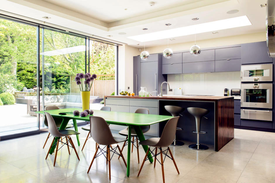 Green Dining Table With Chairs Eames Interior Design