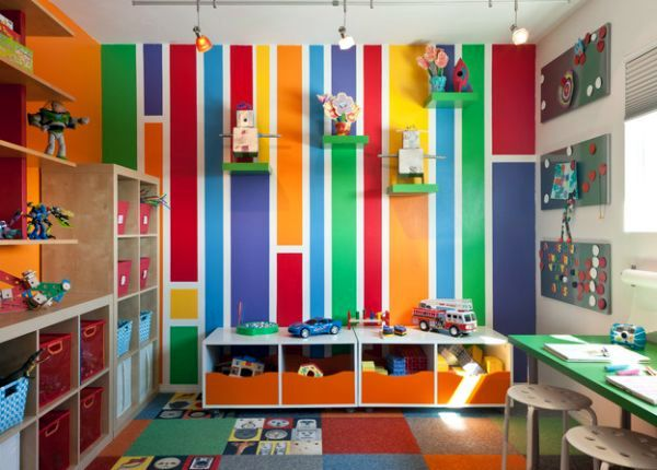 Created in the play area for kids 40 ideas colors for Interior designs for kids