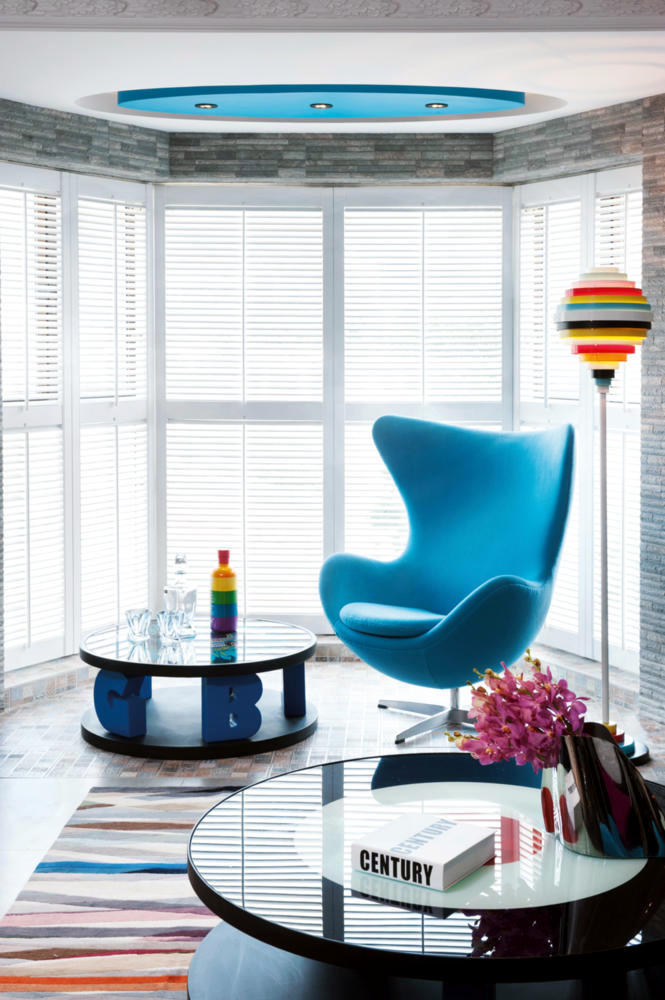 Teal Quot Egg Chair Quot Colorful Set In The Living Room