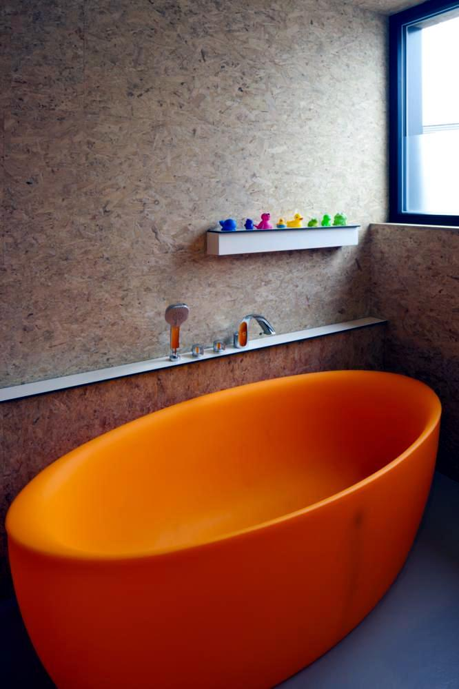 Bathtubs Freestanding Orange Interior Design Ideas