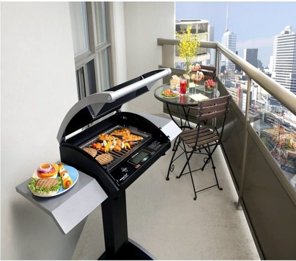 Bbq on the balcony or in garden coal gas electric