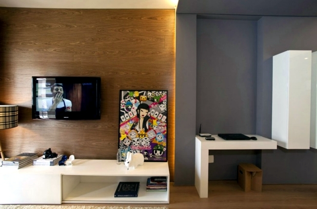 Small apartment in São Paulo with a practical and stylish furnishings