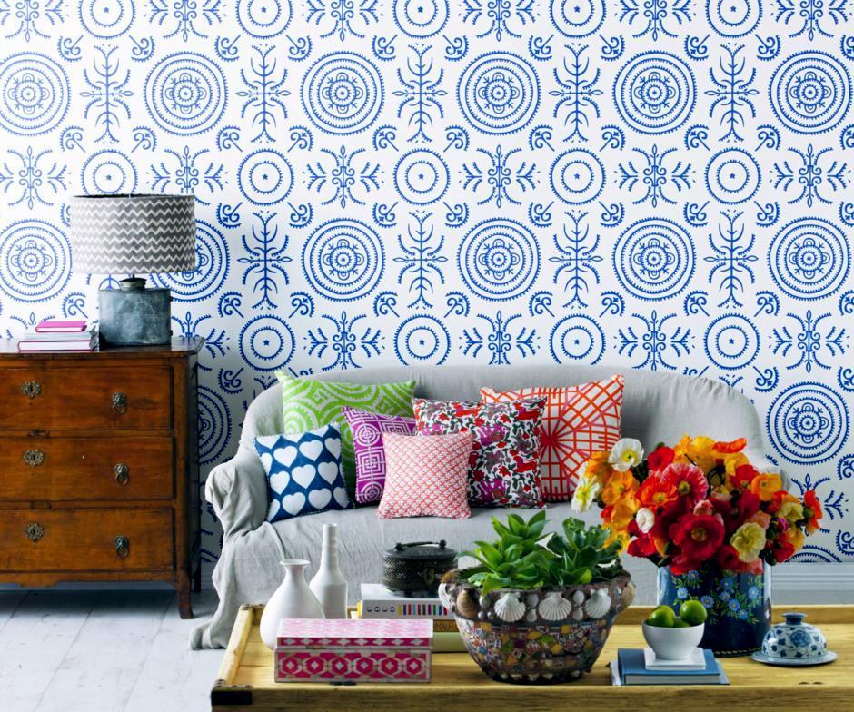 Model Wallpaper In Blue And White Interior Design Ideas Ofdesign Enchanting Blue Interior Design Model