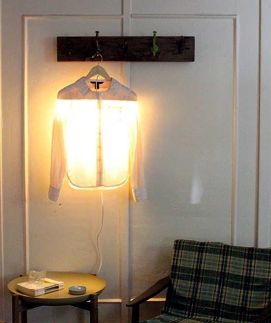 Tinker lamp yourself - original idea with hangers