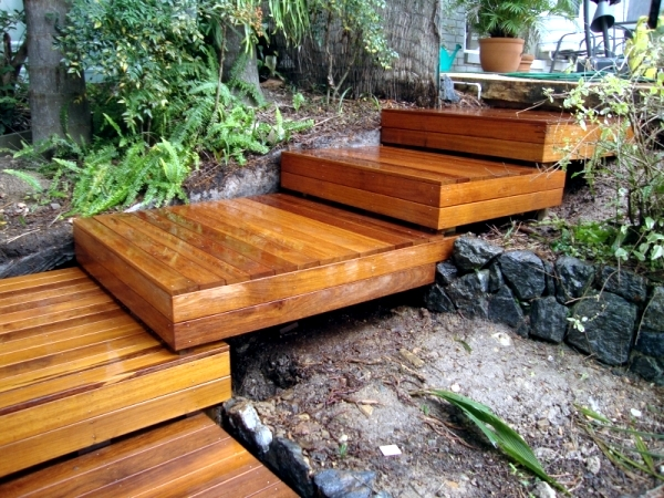 Build Garden Stairs Design Give A Sense Of Dynamism