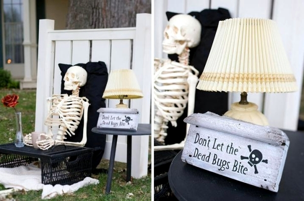 Ideas Spooky Halloween Decoration Skeletons Garden Interior Design Ofdesign