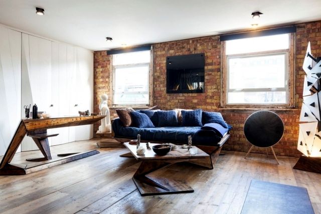 Industrial Style In A Small Apartment London Interior