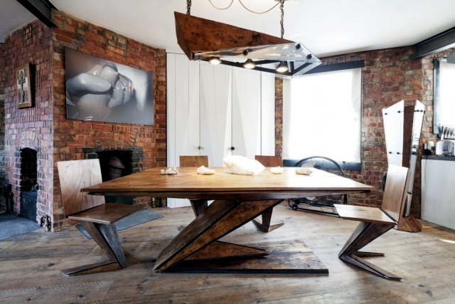 Industrial style in a small apartment in London