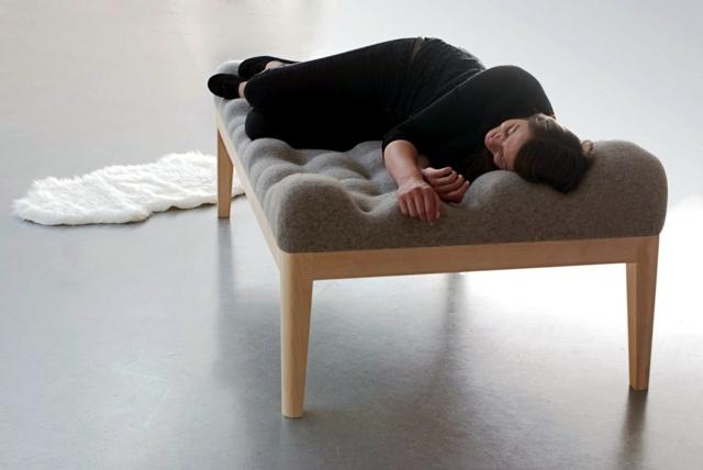 Modern wooden bed environmental awareness