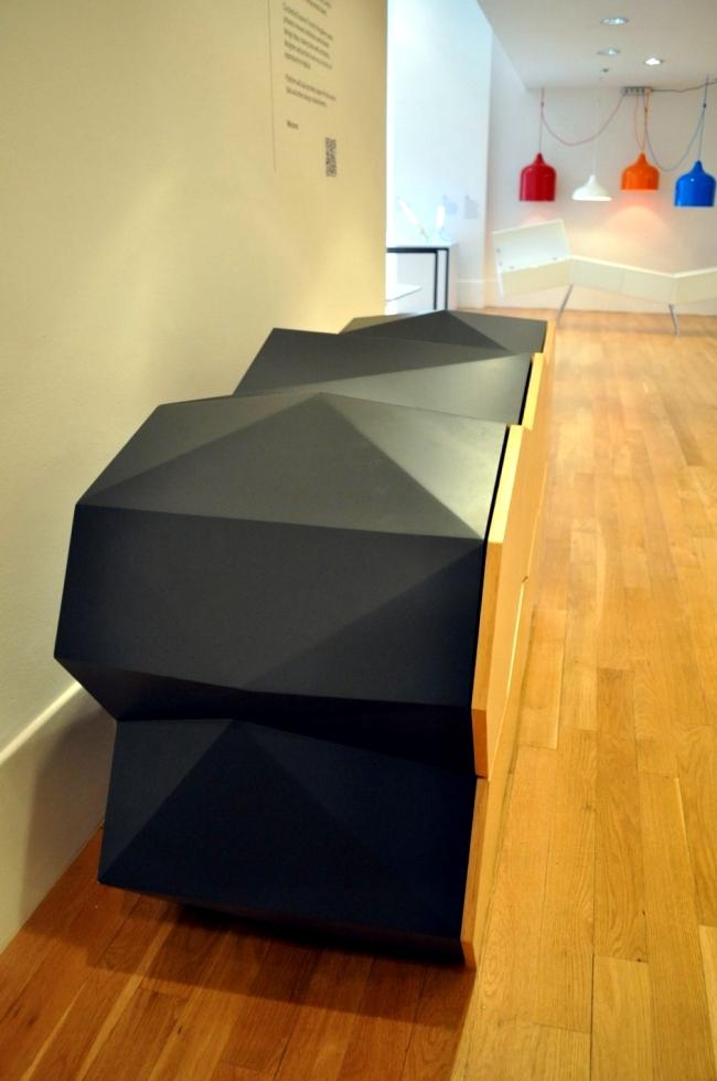 Wooden sideboard design reflects natural landforms