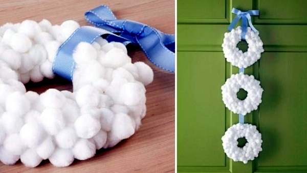 Advent and Weinachtsdeko Tinker - Door Wreath inexpensive materials