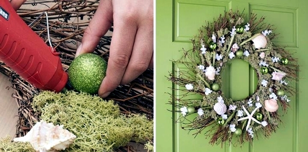 Advent and Weinachtsdeko Tinker - Door Wreath inexpensive materials