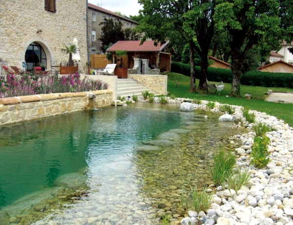 Swimming pond build benefits of natural pool in the for Garden pool repairs