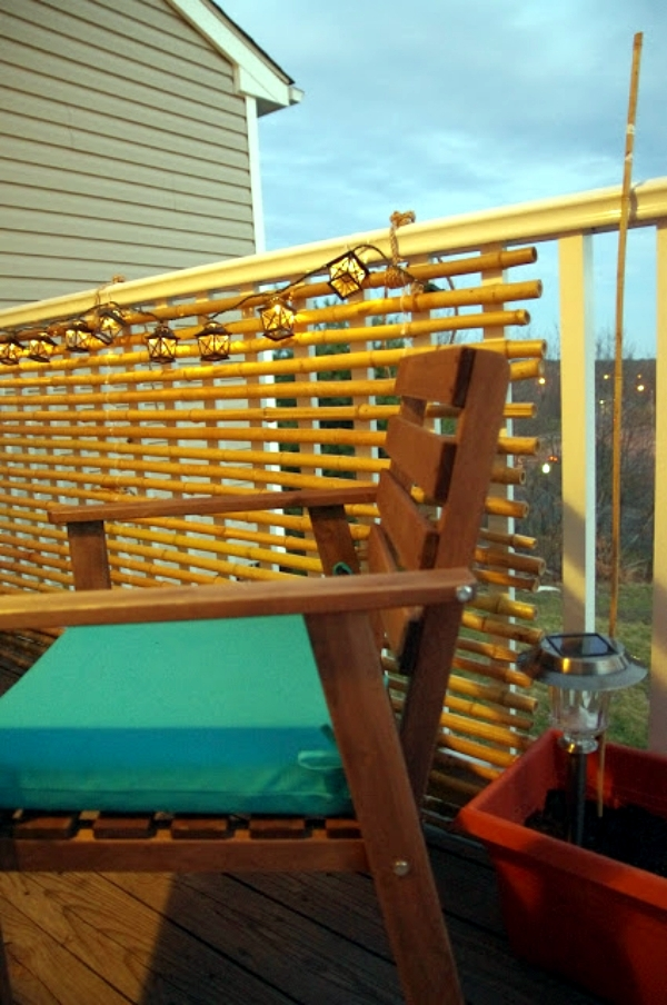 Build bamboo blinds on the balcony - Decorating Ideas for terrace