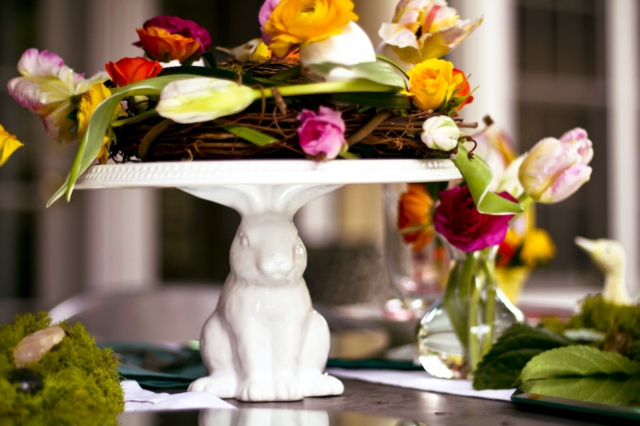 20 ideas for table decoration Easter mood with spring flowers