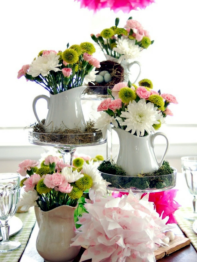 20 Ideas For Table Decoration Easter Mood With Spring