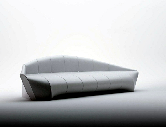 Modern sofa design inspired ergonomic shape of the aircraft