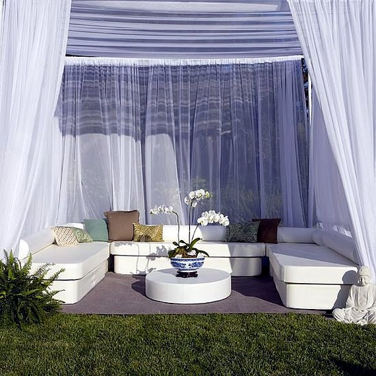 A garden designed for elegant relaxation lounge furniture and decor