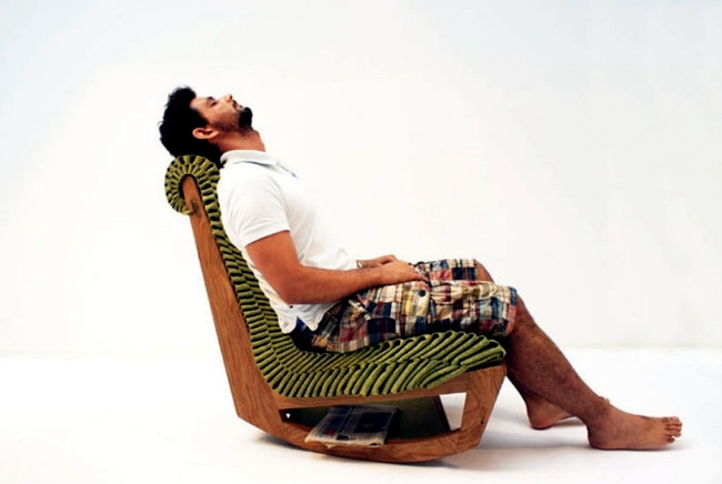 Ivy Lounge Rocking Chair designed according to the principles of biomimicry