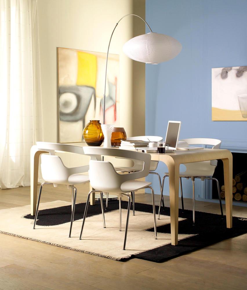 Arco Floor Lamp With White Lantern Interior Design Ideas