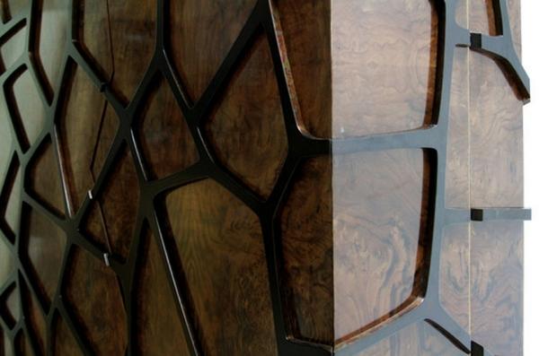 Designer wooden wardrobe reminds Orion constellation of the same name