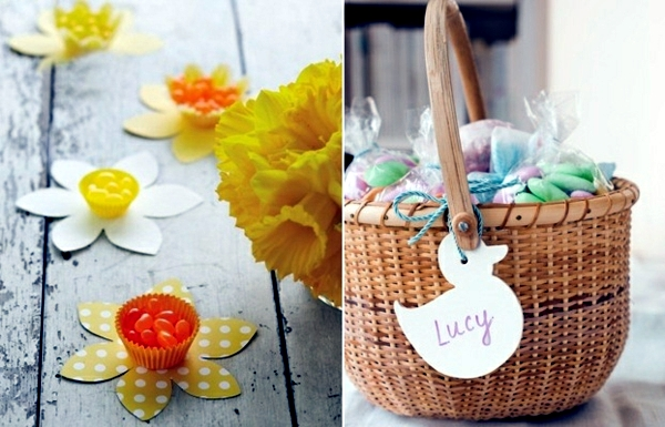 Easter decoration crafts - with bunnies and eggs Ideas Paper