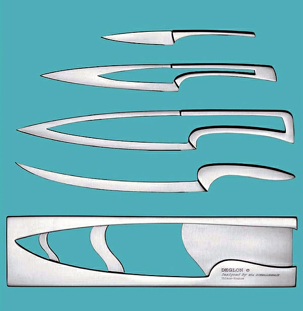 Set of chef knives home - little room for small kitchens